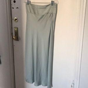 mint satin skirt